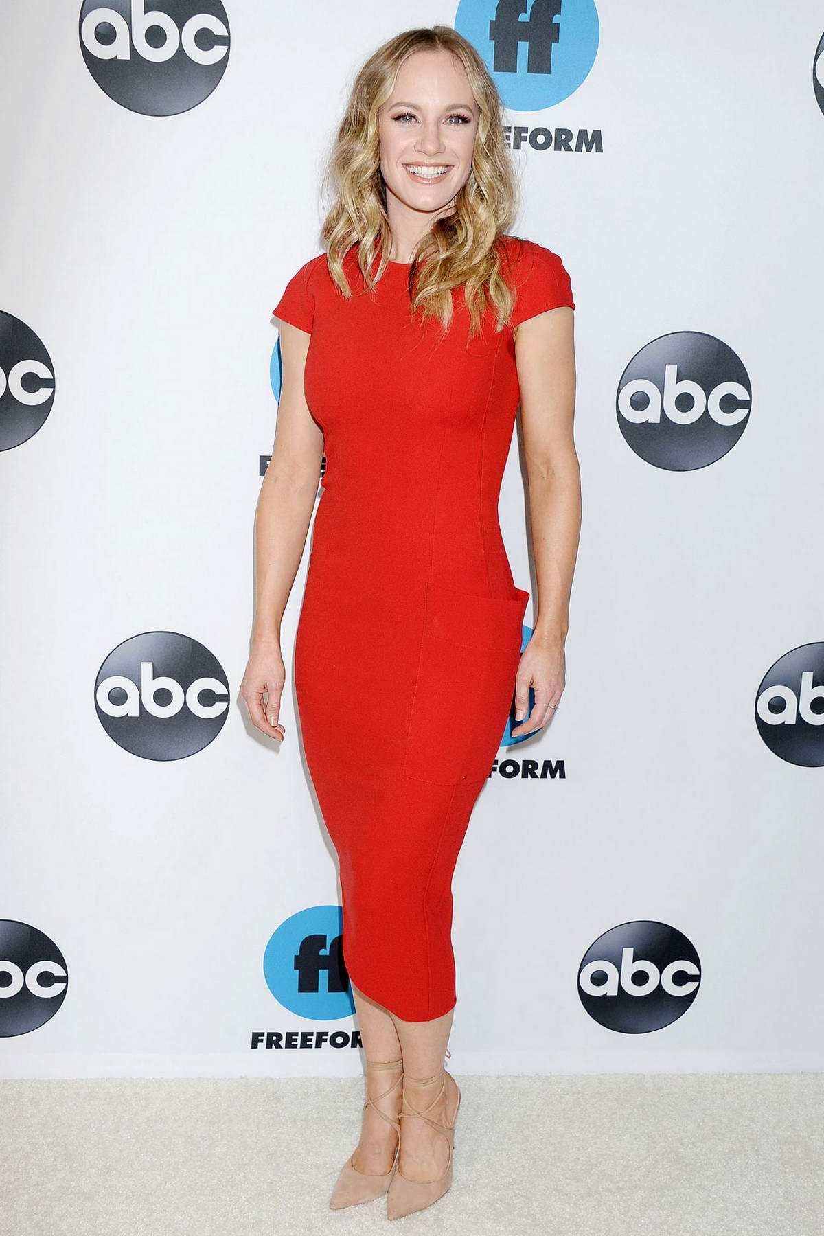 Danielle Savre attends the Freeform's TCA Winter Press Tour in Los Angeles