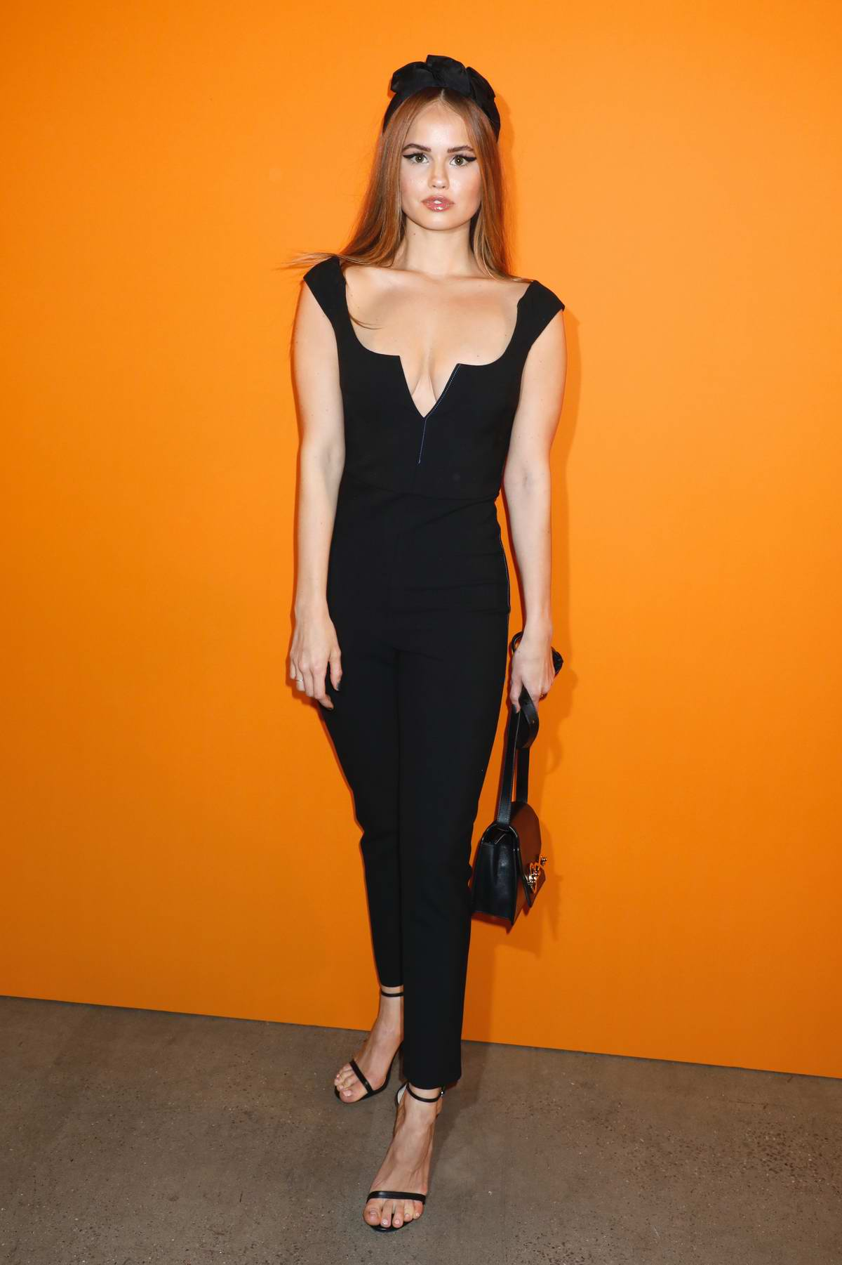 Debby Ryan attends the Cushnie fashion show during New York Fashion Week at Gallery I at Spring Studios in New York City