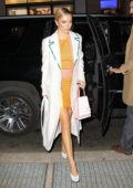 Delilah Belle Hamlin arrives at the Michael Kors Spring 2019 Launch Party at Dolby Soho in New York City