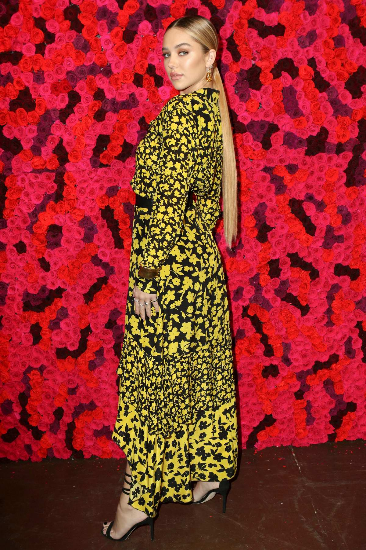 Delilah Belle Hamlin attends the Alice + Olivia fashion show during New York Fashion Week in New York City