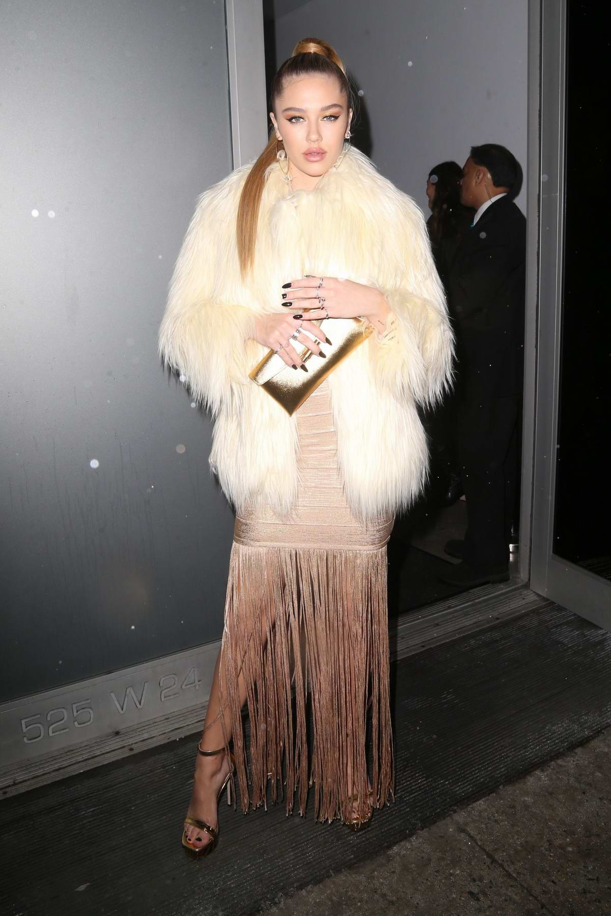 Delilah Belle Hamlin attends the Stuart Weitzman Party during New York Fashion Week in New York City