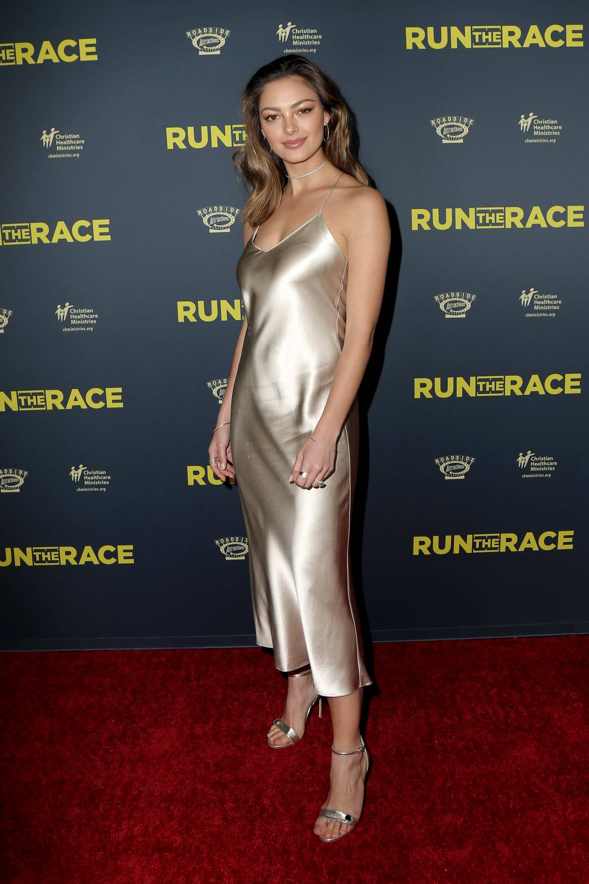 Demi-Leigh Nel-Peters attends the premiere of Roadside Attractions' 'Run The Race' in Hollywood, Los Angeles