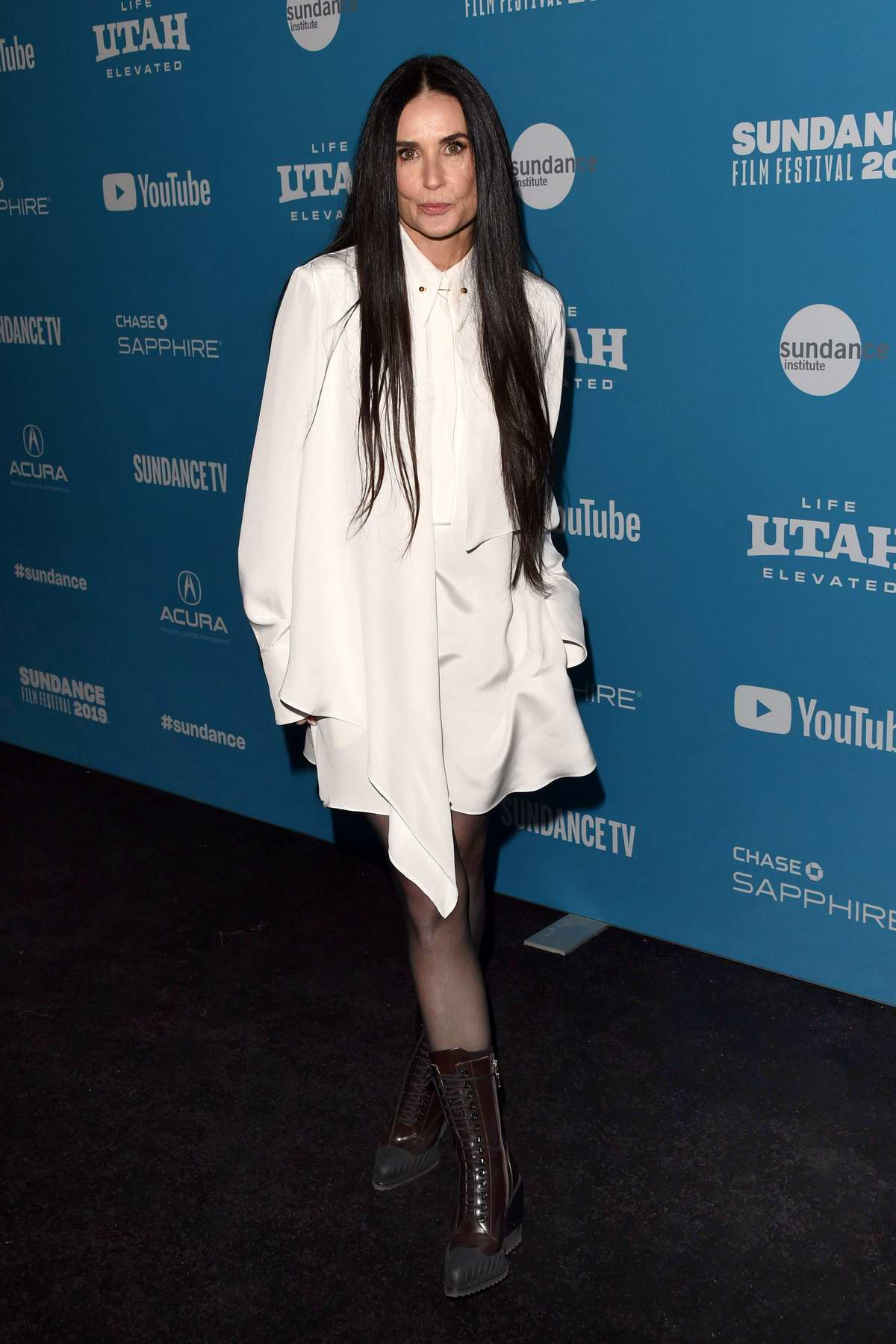 Demi Moore attends 'Corporate Animals' Premiere during 2019 Sundance Film Festival in Park City, Utah