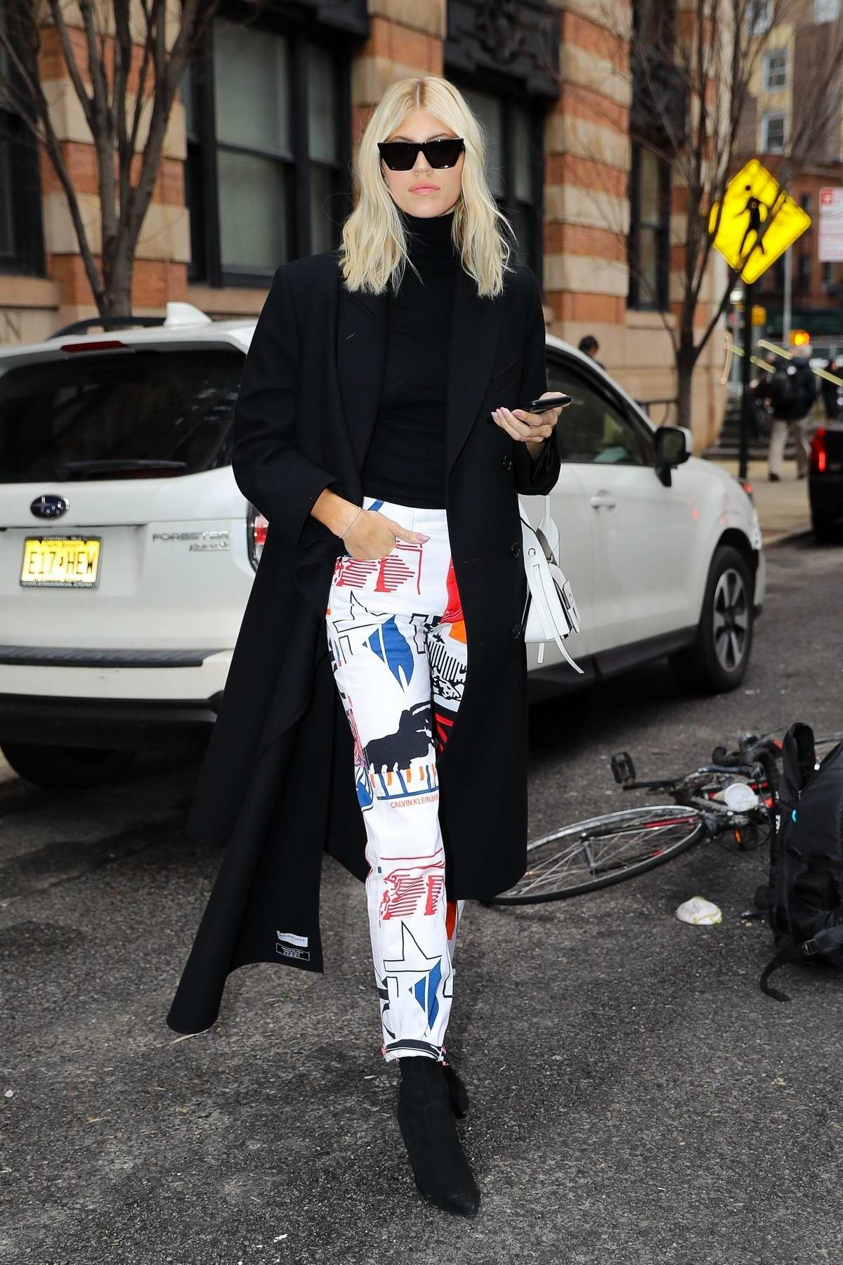Devon Windsor looks stylish while out and about during New York Fashion Week in New York City
