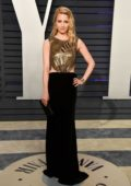 Dianna Agron attends the Vanity Fair Oscar Party at Wallis Annenberg Center for the Performing Arts in Beverly Hills, California