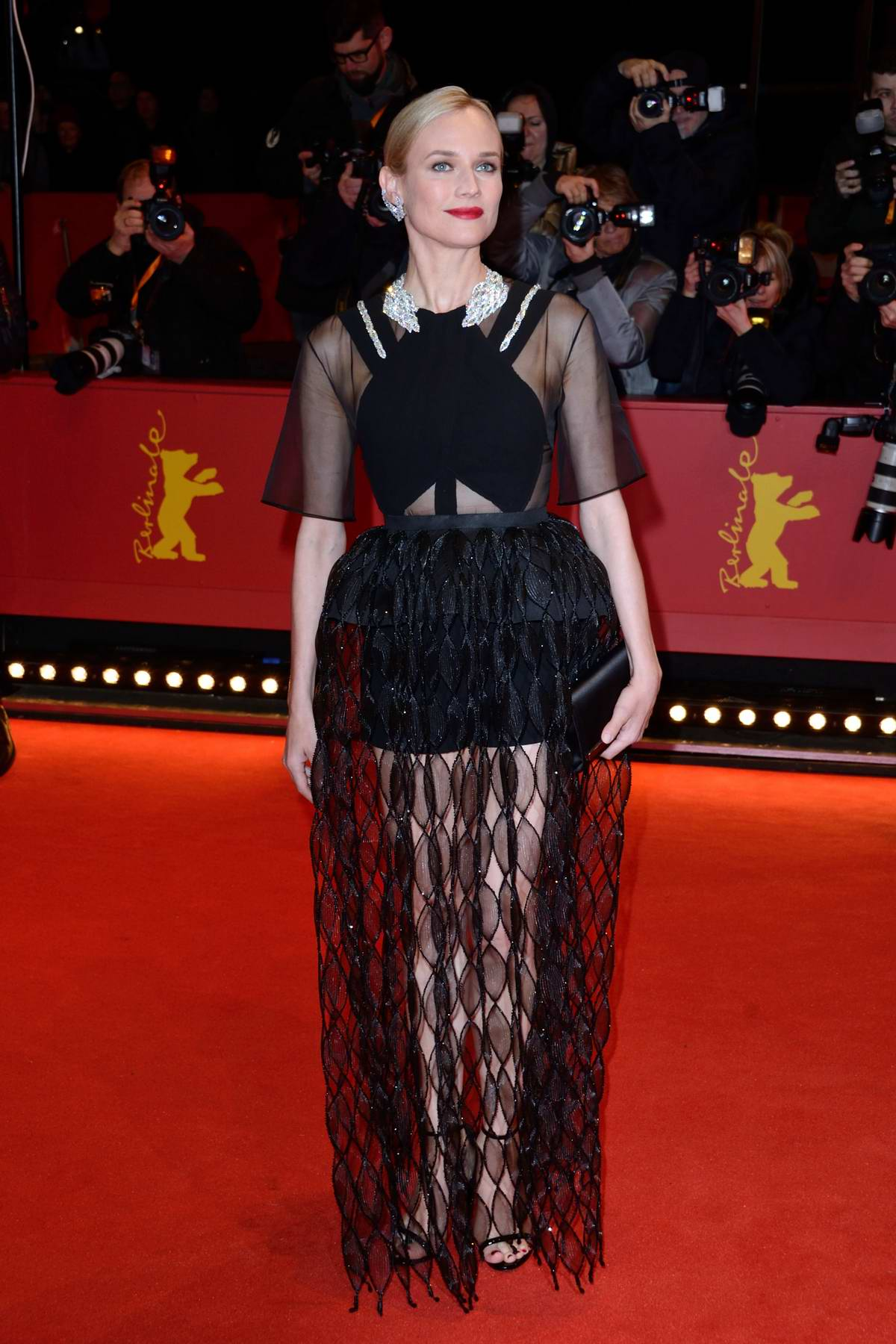 Diane Kruger attends 'The Operative' Premiere during the 69th Berlinale International Film Festival Berlin, Germany