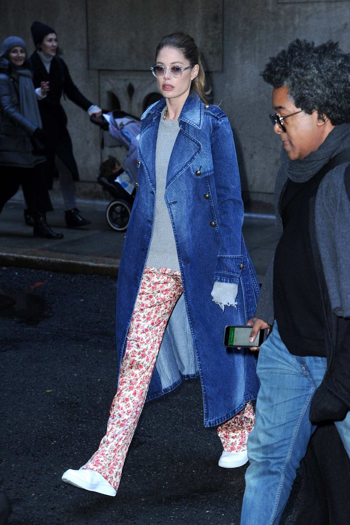 Doutzen Kroes attends Michael Kors fashion show during New York Fashion Week in New York City