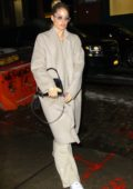 Doutzen Kroes sports all beige ensemble as she returns to her hotel during New York Fashion Week in New York City
