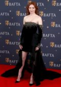 Eleanor Tomlinson attends the BAFTA Film Gala 2019 at the The Savoy Hotel in London, UK
