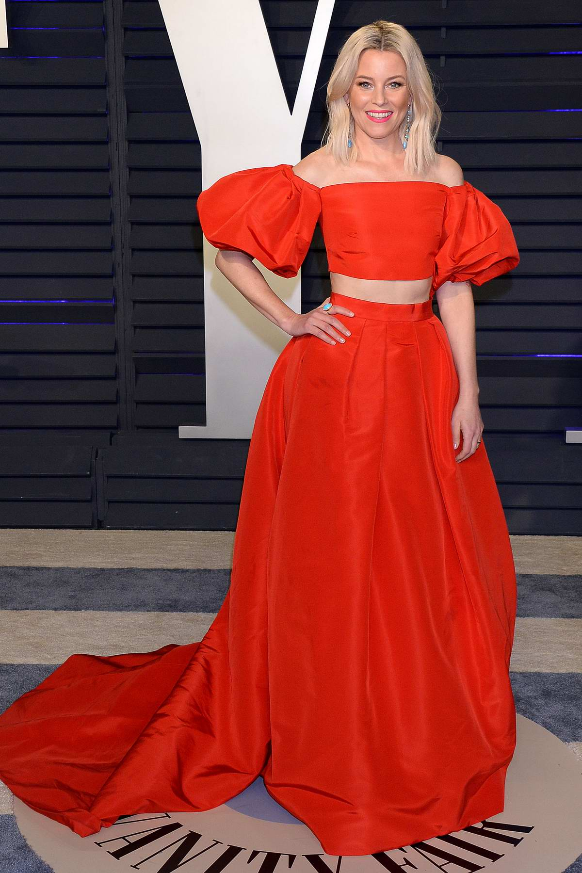 Elizabeth Banks attends the Vanity Fair Oscar Party at Wallis Annenberg Center for the Performing Arts in Beverly Hills, California