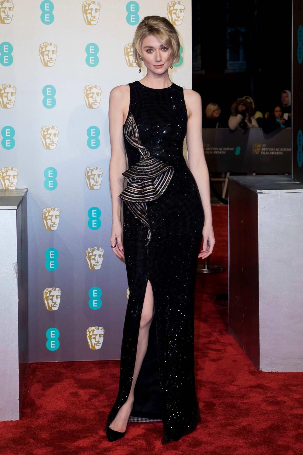 Elizabeth Debicki attends the 72nd EE British Academy Film Awards (BAFTA 2019) at Royal Albert Hall in London, UK