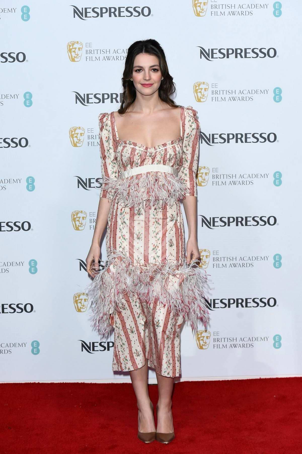 Ella Hunt attends the BAFTA Nespresso Nominees Party in London, UK