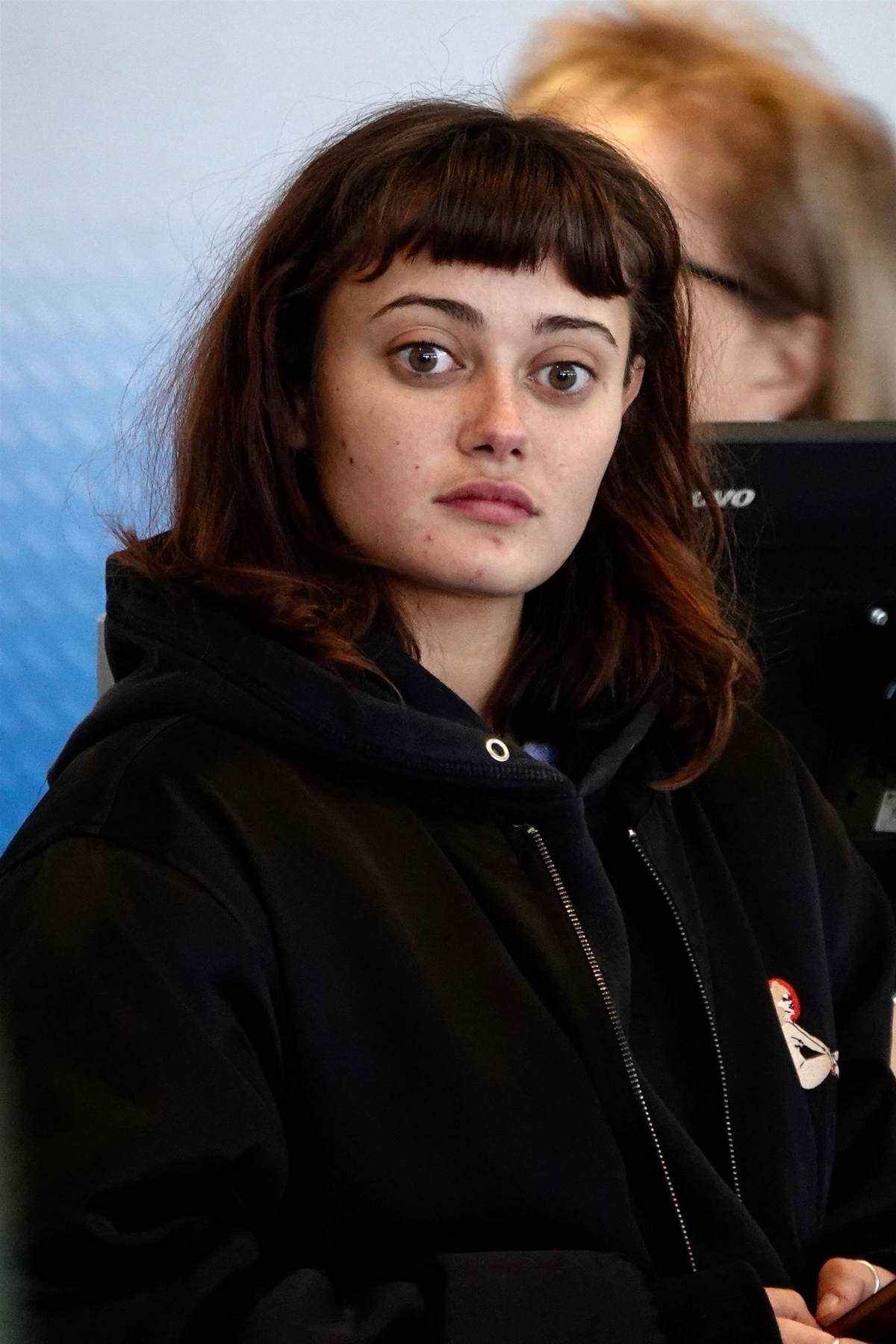 Ella Purnell is seen departing on a flight at LAX airport in Los Angeles