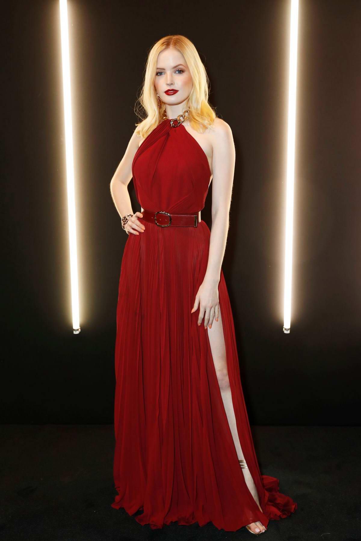 Ellie Bamber attends the Dunhill Pre-BAFTA dinner at Bourdon House in London, UK