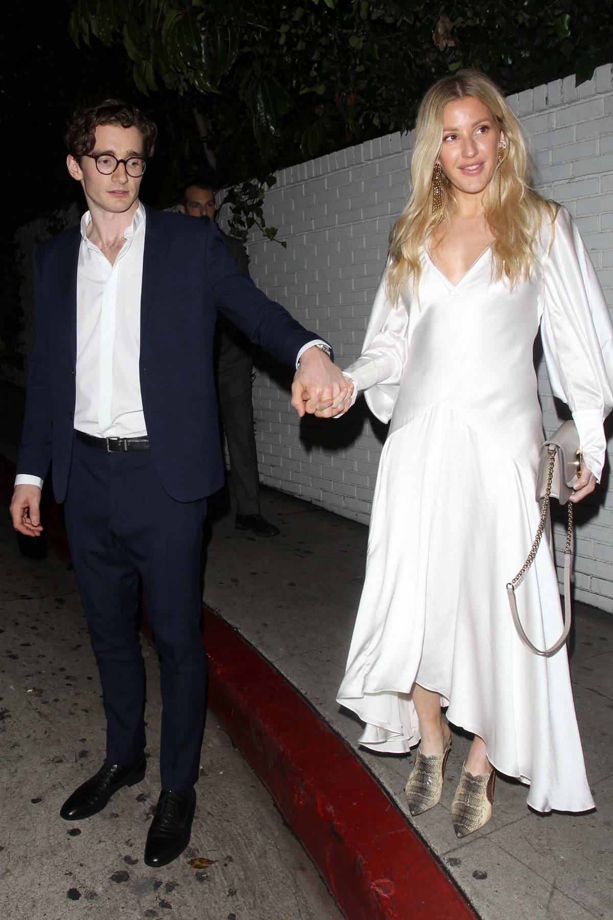 Ellie Goulding and Casper Jopling enjoys a Valentine's Day dinner date at Chateau Marmont in West Hollywood, Los Angeles