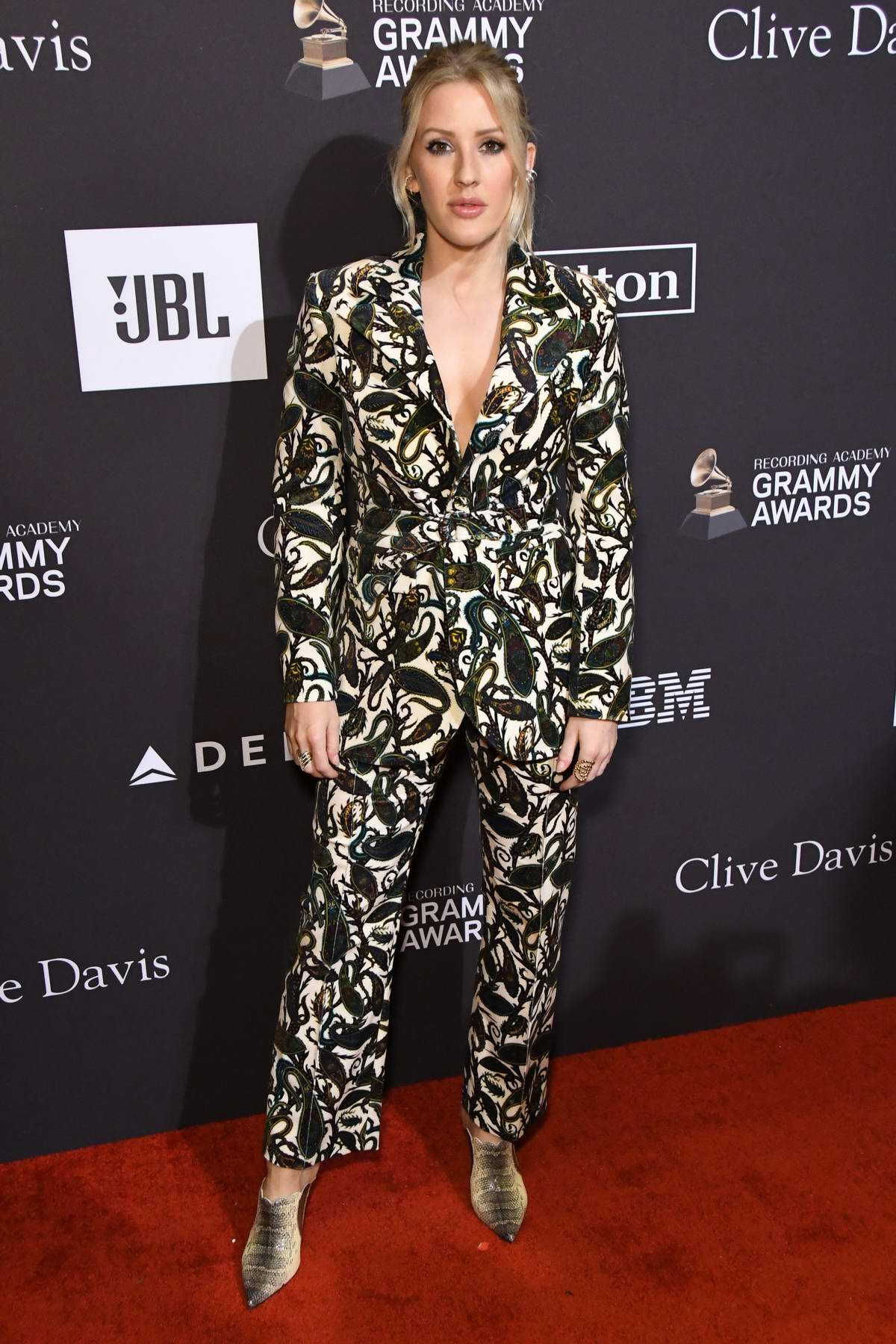 Ellie Goulding attends the Clive Davis Pre-Grammy Gala and Salute to Industry Icons held at The Beverly Hilton in Los Angeles