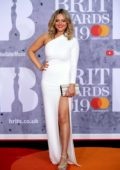 Emily Atack attends The BRIT Awards 2019 held at The O2 Arena in London, UK