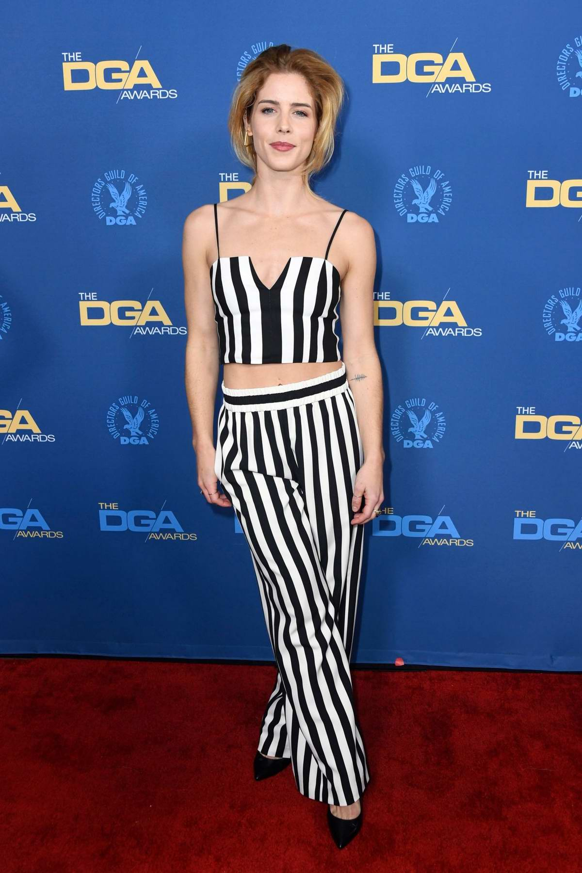Emily Bett Rickards attends the 71st Annual Directors Guild Of America Awards in Hollywood, California