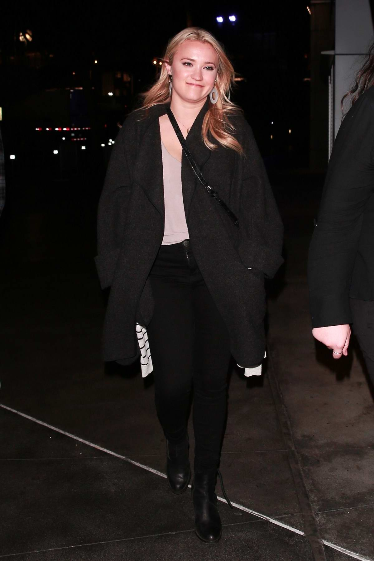 Emily Osment heading to the Elton John concert at the Staples Center in Los Angeles