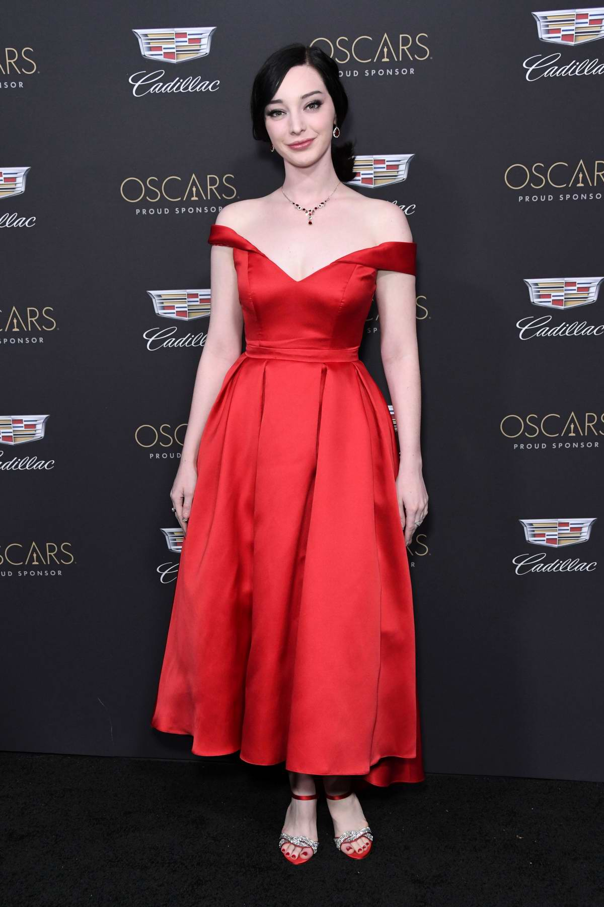 Emma Dumont attends Cadillac Celebrates The 91st Annual Academy Awards held at the Chateau Marmont in West Hollywood, Los Angeles