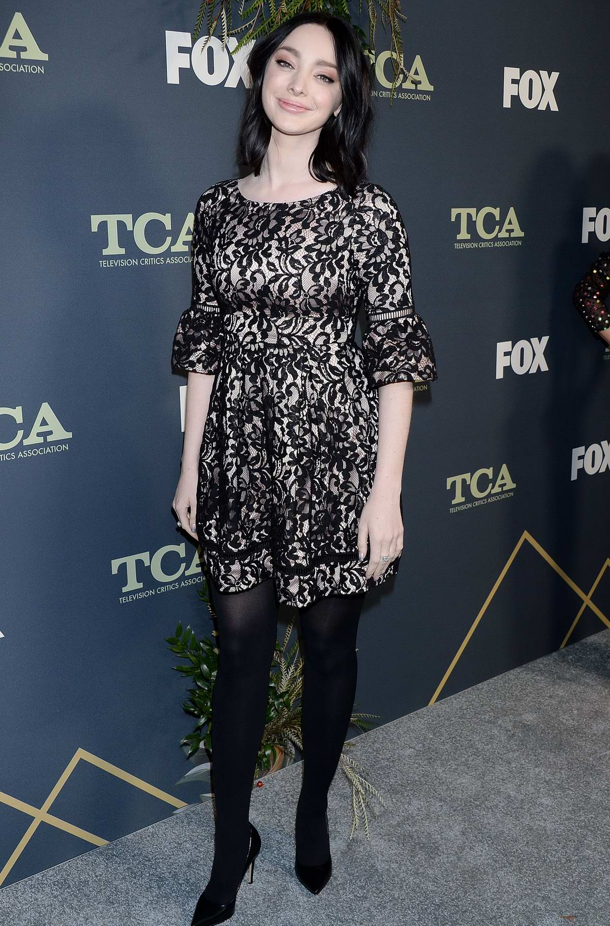 Emma Dumont attends the Fox Winter TCA 2019 at The Fig House in Los Angeles