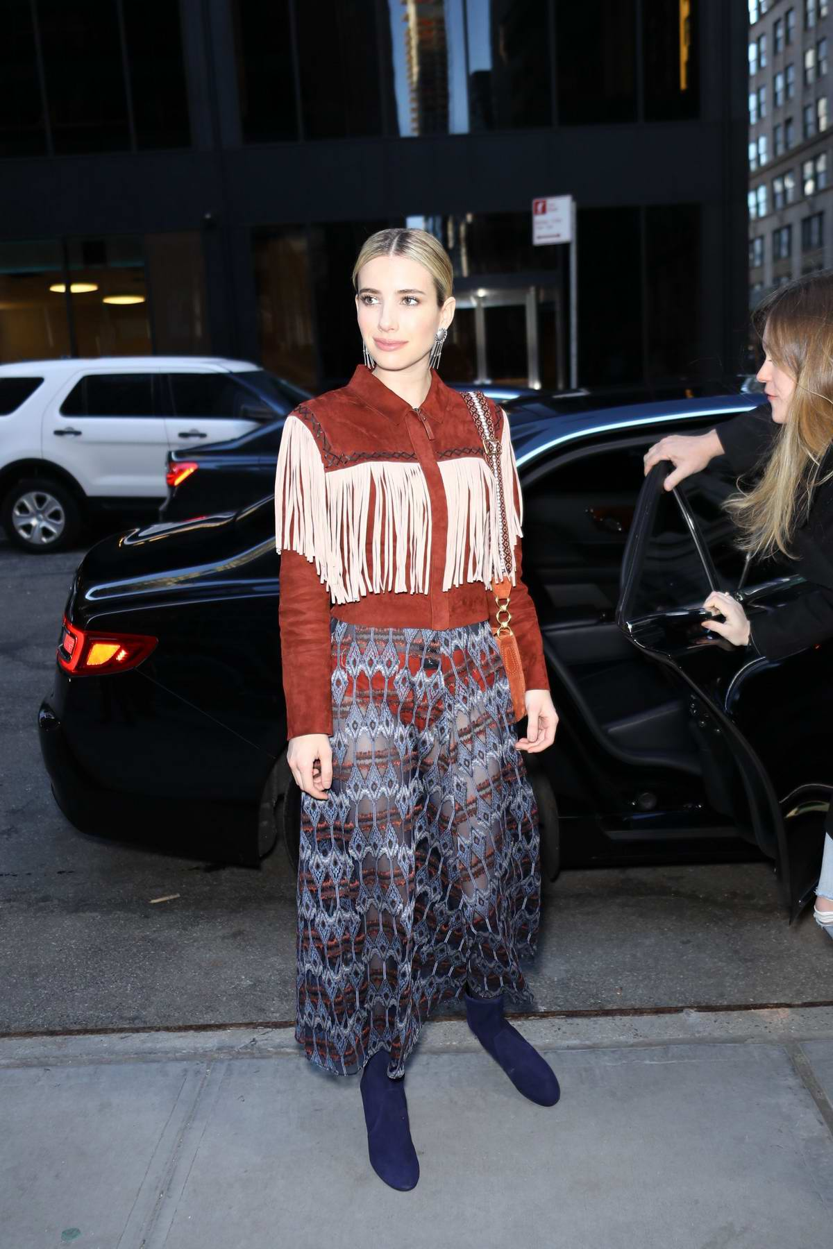 Emma Roberts attends the Long Champs Fashion Show during New York Fashion Week in New York City
