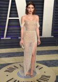Emma Roberts attends the Vanity Fair Oscar Party at Wallis Annenberg Center for the Performing Arts in Beverly Hills, California