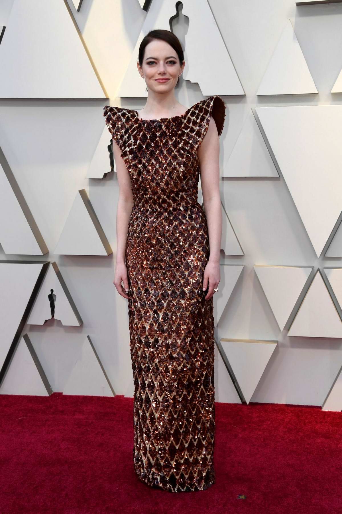 Emma Stone attends the 91st Annual Academy Awards (Oscars 2019) held at the Dolby Theatre in Hollywood, California