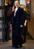 Florence Pugh promotes 'Fighting With My Family' at the BBC Radio Studios in London, UK