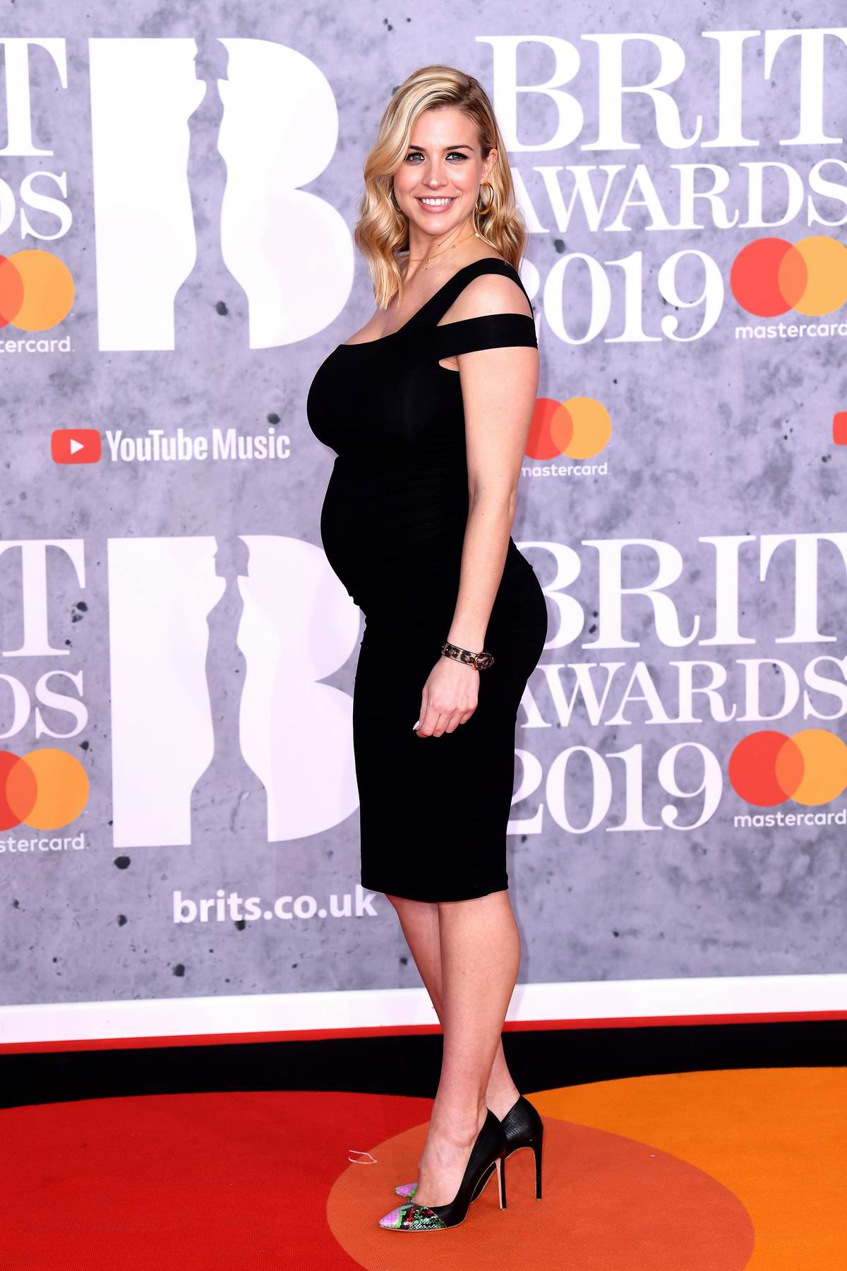 Gemma Atkinson attends The BRIT Awards 2019 held at The O2 Arena in London, UK
