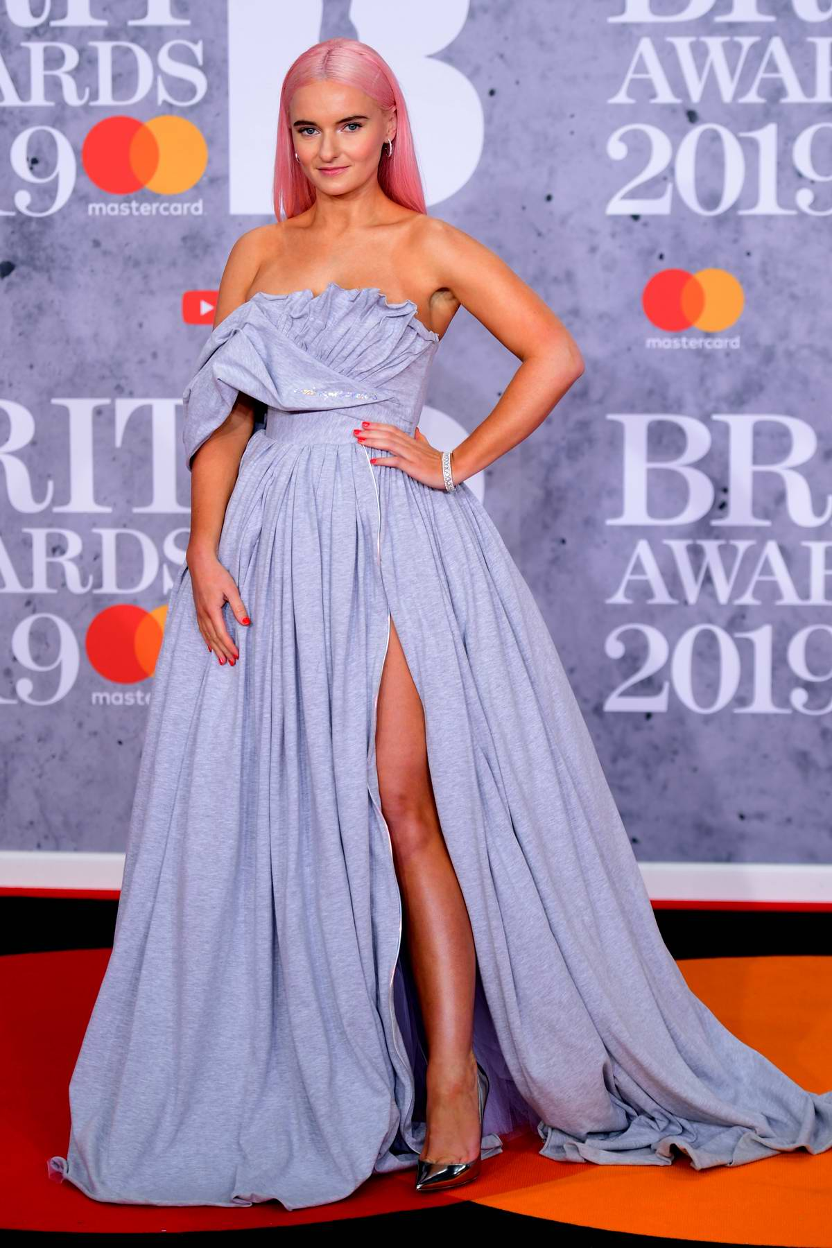 Grace Chatto attends The BRIT Awards 2019 held at The O2 Arena in London, UK