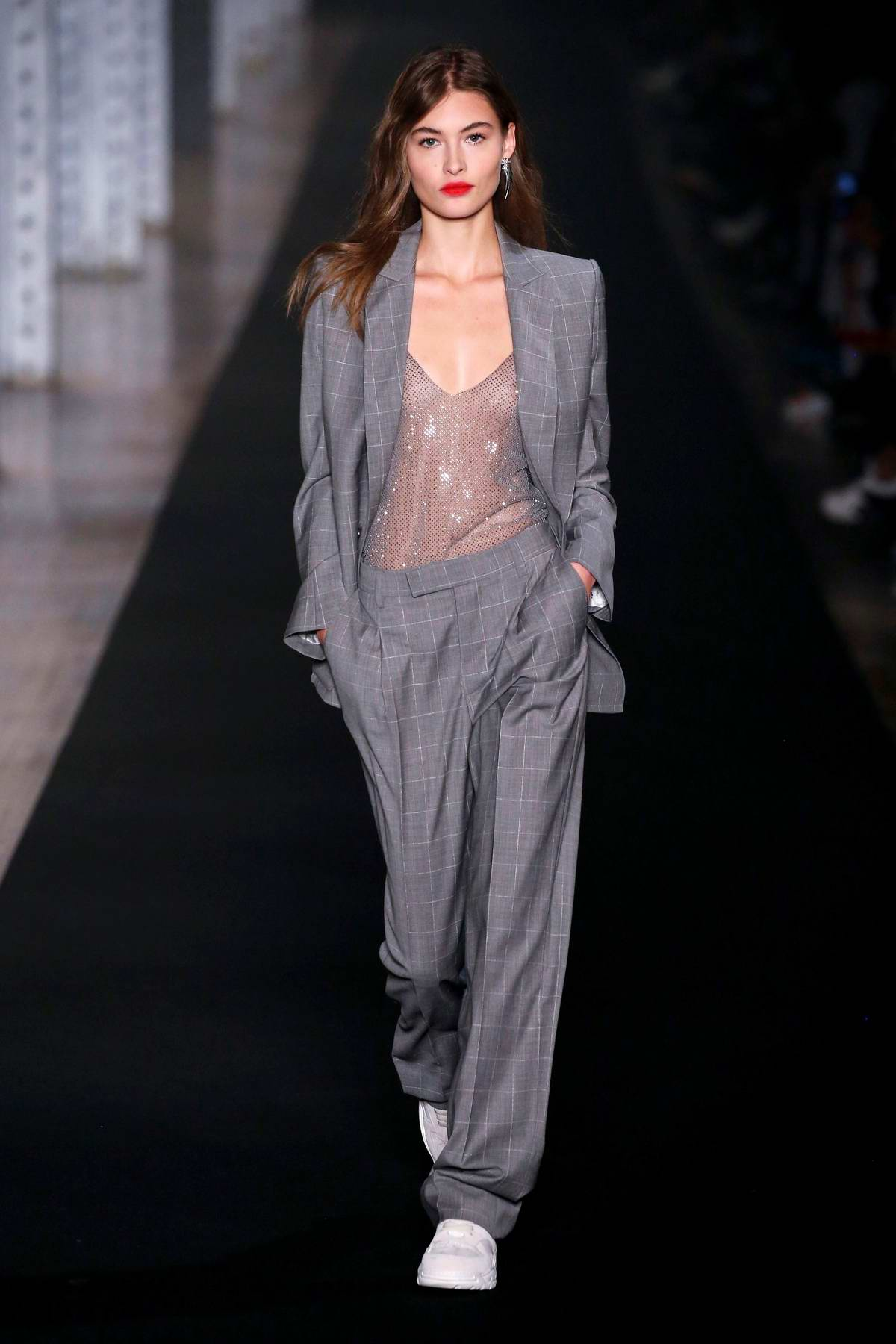Grace Elizabeth walks the runway at the Zadig & Voltaire fashion show during New York Fashion Week in New York City