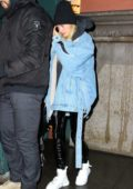 Hailey Baldwin Bieber leaving the Lure Fishbar after dinner in New York City