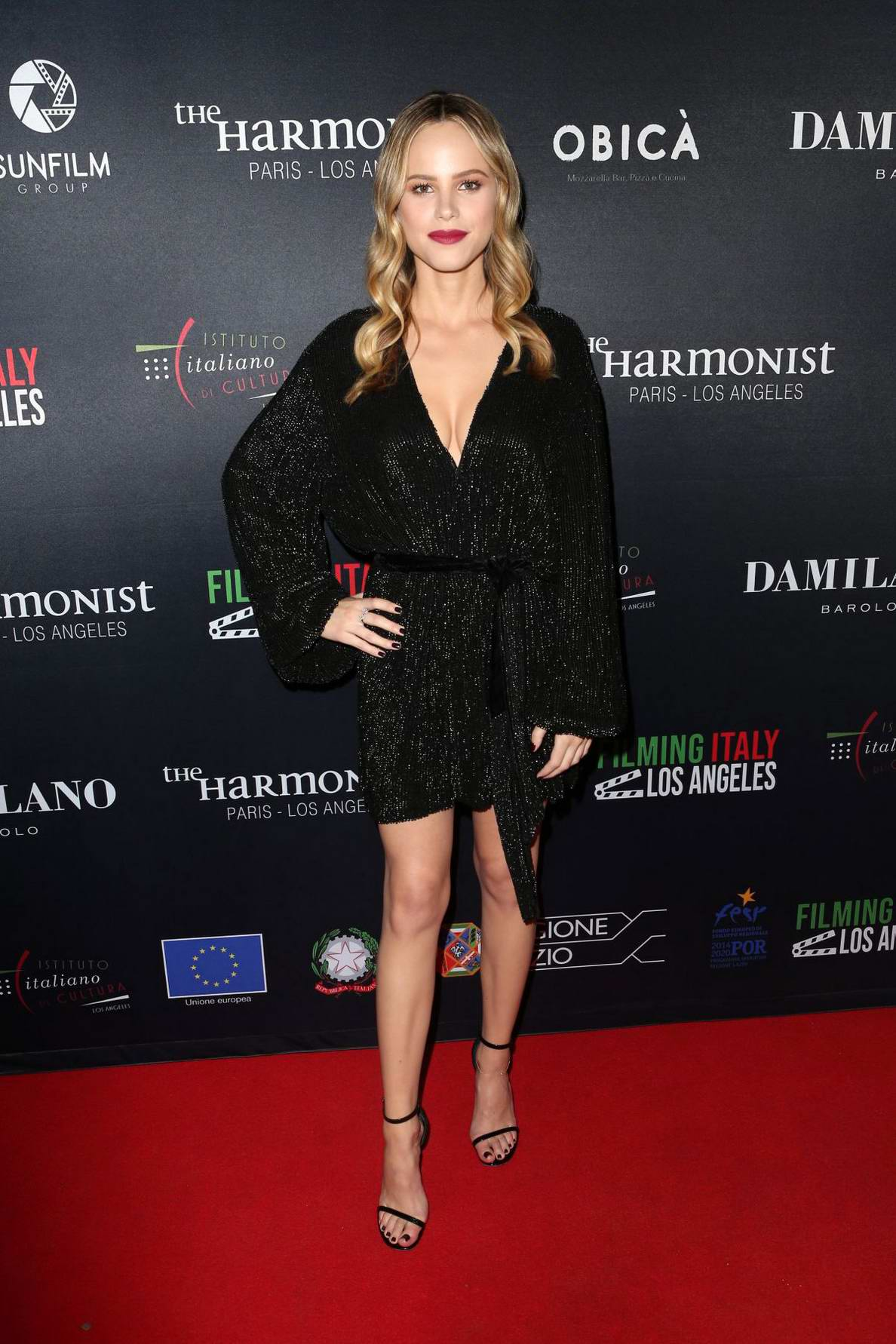 Halston Sage attends the Filming in Italy Festival in Los Angeles