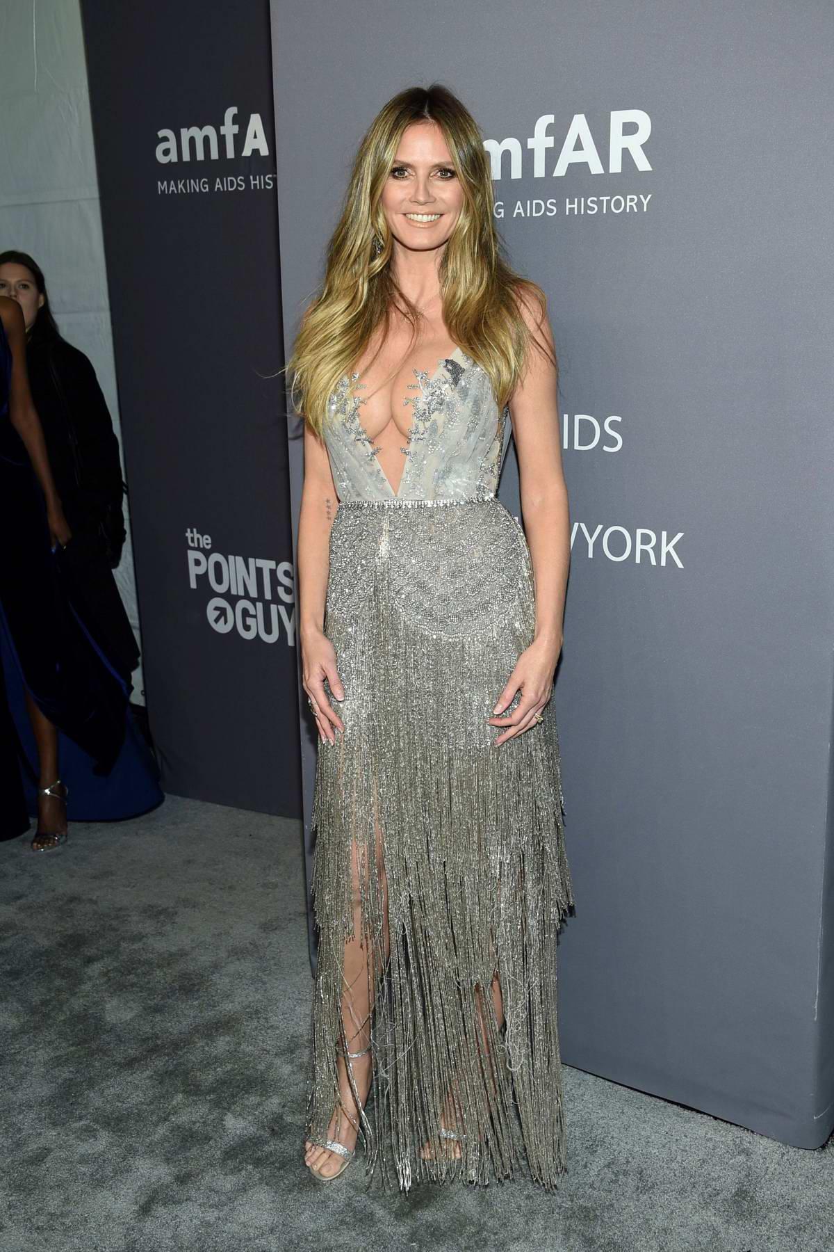 Heidi Klum attends amfAR New York Gala 2019 at Cipriani Wall Street in New York City