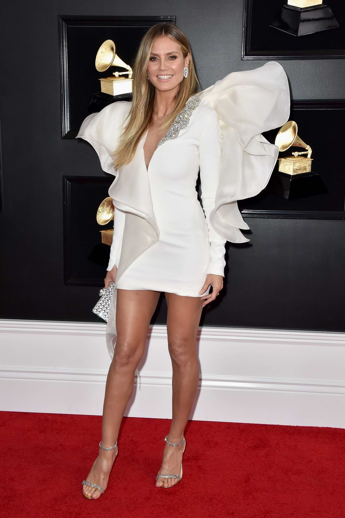 Heidi Klum attends the 61st Annual GRAMMY Awards (2019 GRAMMYs) at Staples Center in Los Angeles