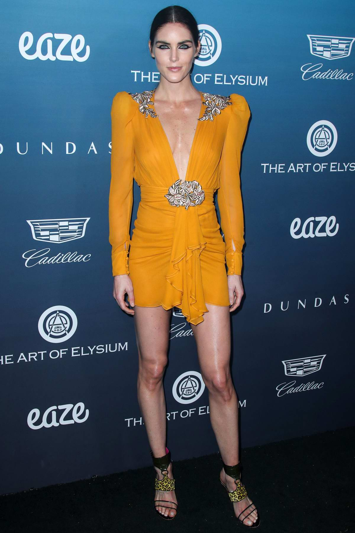Hilary Rhoda attends The Art of Elysium's 12th Annual Black Tie Event 'Heaven' in Los Angeles