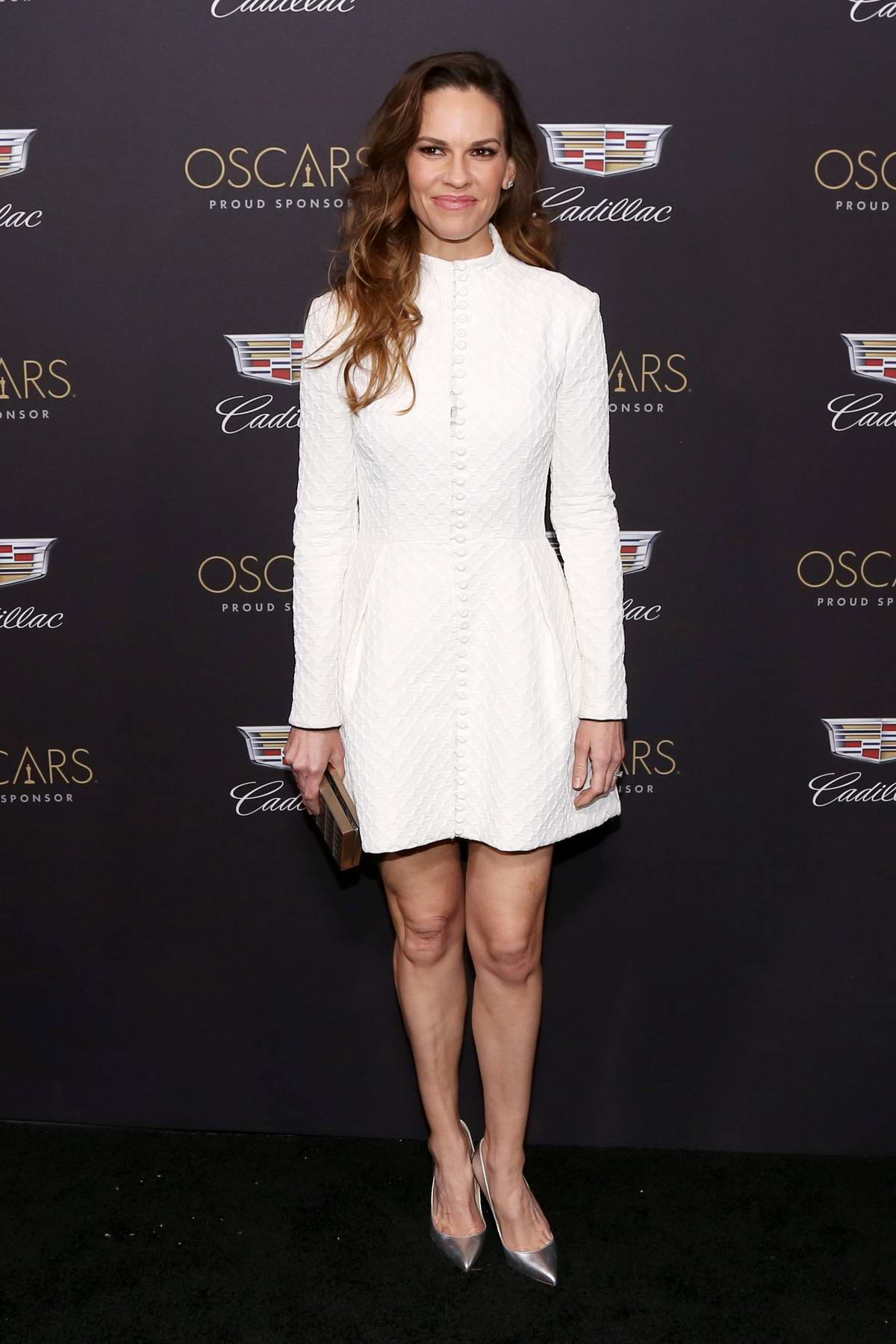 Hilary Swank attends Cadillac Celebrates The 91st Annual Academy Awards held at the Chateau Marmont in West Hollywood, Los Angeles