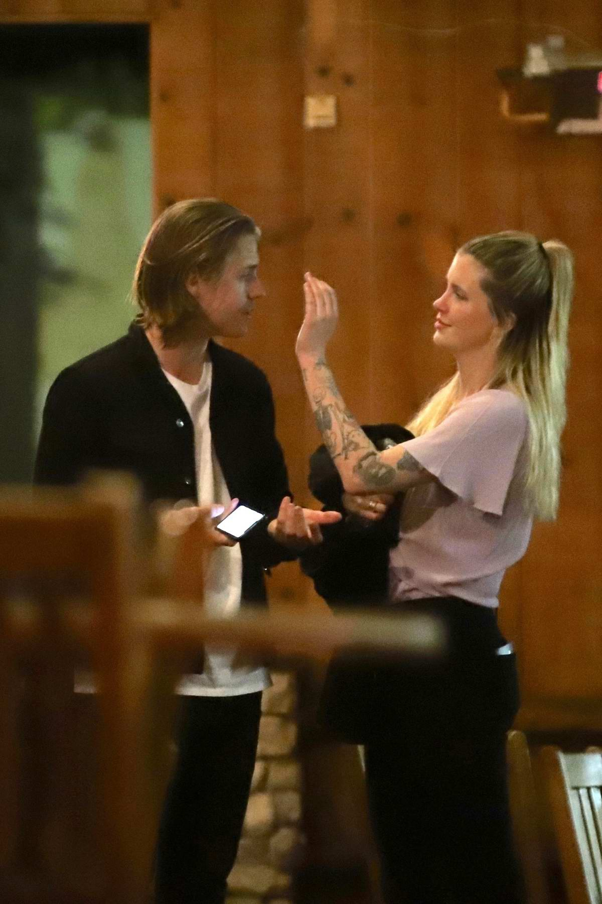 Ireland Baldwin gets cozy with Corey Harper while out with friends in West Hollywood, Los Angeles
