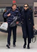 Irina Shayk and Bradley Cooper arrives to catch a flight out of JFK airport in New York City