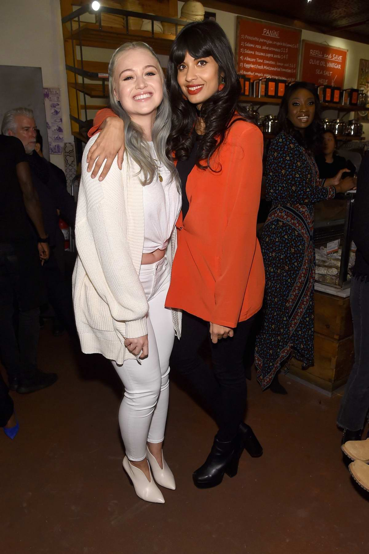 Iskra Lawrence and Jameela Jamil at the Aerie Celebrates Aeriereal Role Models in New York City