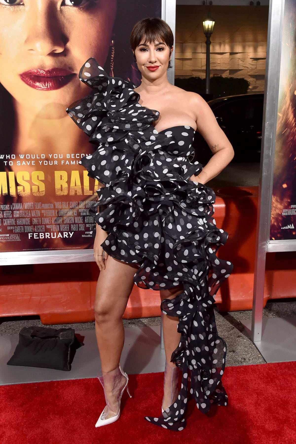 Jackie Cruz attends the premiere of 'Miss Bala' at Regal LA Live Theatre in Los Angeles