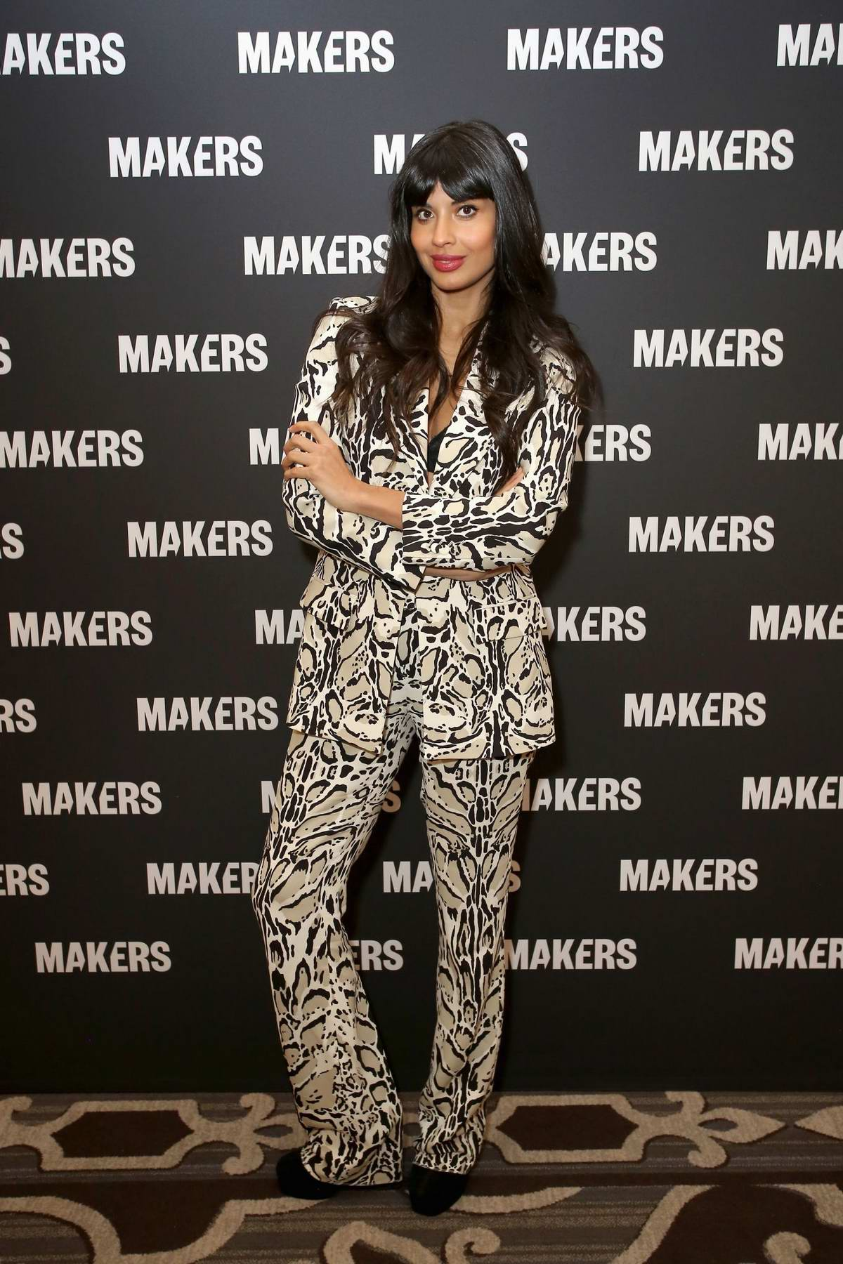 Jameela Jamil attends The 2019 MAKERS Conference at Monarch Beach Resort in Dana Point, California