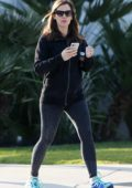 Jennifer Garner steps out in a black jacket and grey leggings in Los Angeles