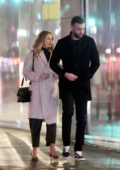 Jennifer Lawrence and fiance Cooke Maroney steps out for a stroll in New York City