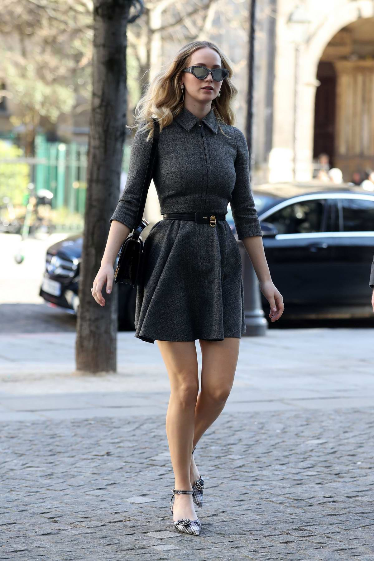 Jennifer Lawrence arrives at La Societe restaurant while attending Paris Fashion Week 2019 in Paris, France