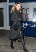 Jennifer Lawrence steps out on a brisk and breezy night for dinner in Tribeca, New York City