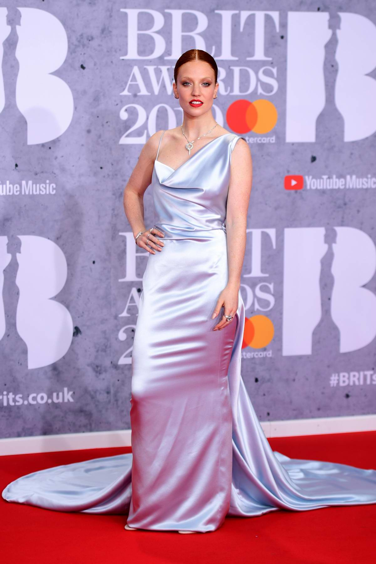 Jess Glynne attends The BRIT Awards 2019 held at The O2 Arena in London, UK