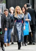 Jessica Rothe is all smiles as she arrives for her appearance on Jimmy Kimmel Live in Los Angeles