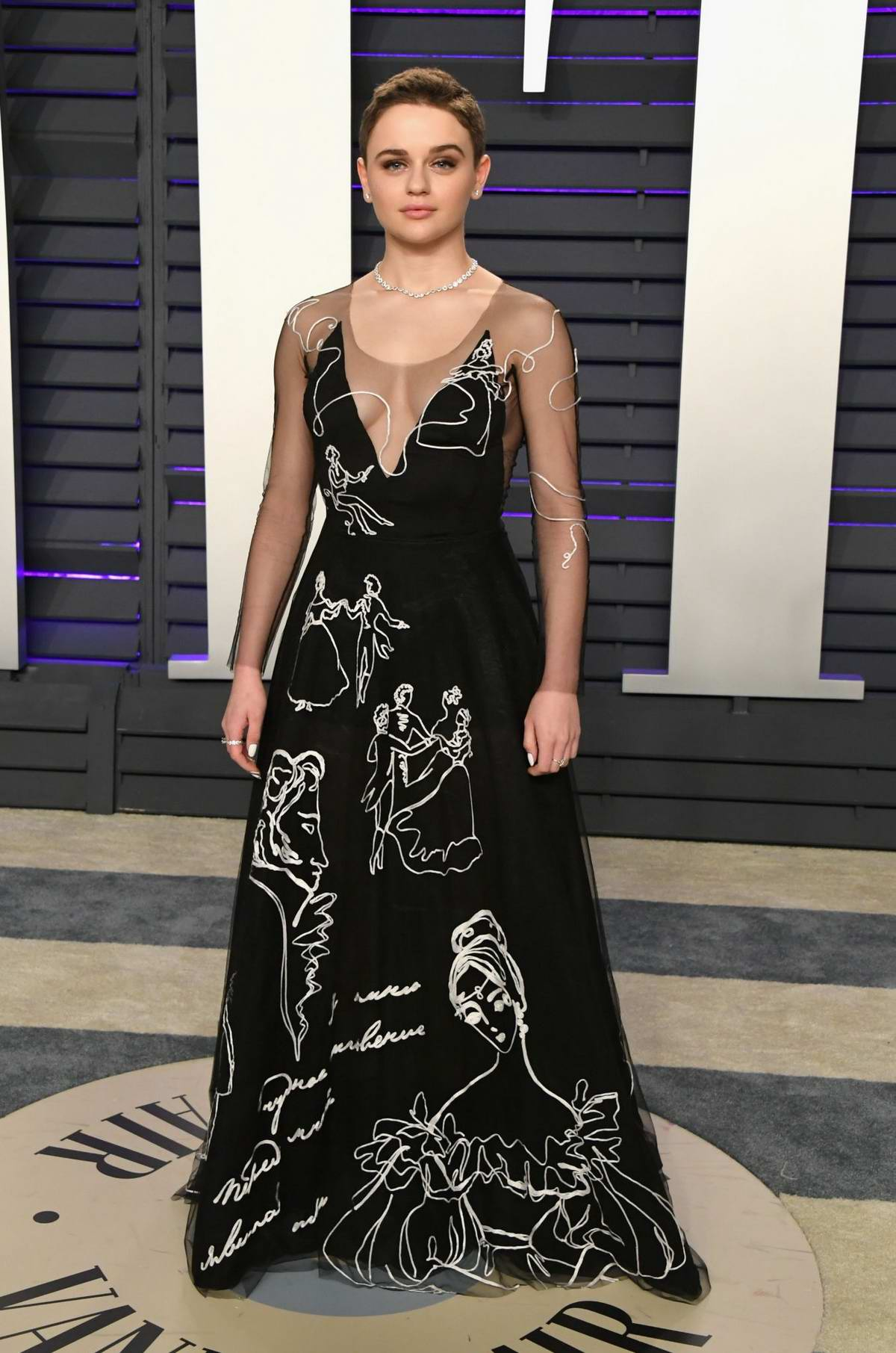 Joey King attends the Vanity Fair Oscar Party at Wallis Annenberg Center for the Performing Arts in Beverly Hills, California